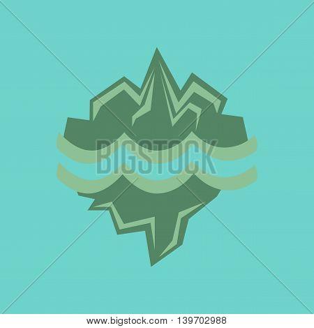 flat icon on stylish background nature melting glacier