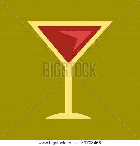 flat icon on stylish background martini glass
