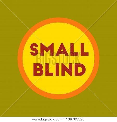flat icon on stylish background poker small blind