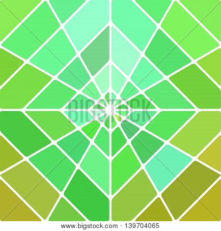 abstract vector stained-glass mosaic background - green and yellow rhombus