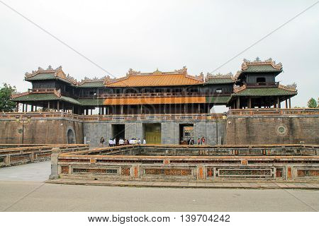 Hue Citadel Defense Fort in the heart of the bustling city