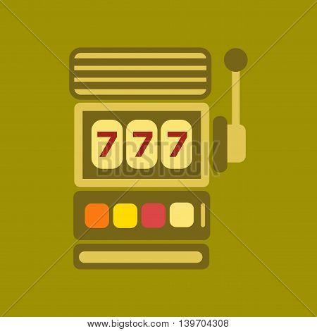 flat icon on stylish background poker slot machine