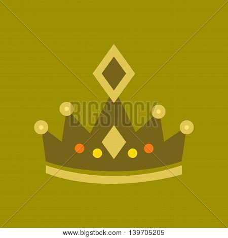 flat icon on stylish background poker crown royal