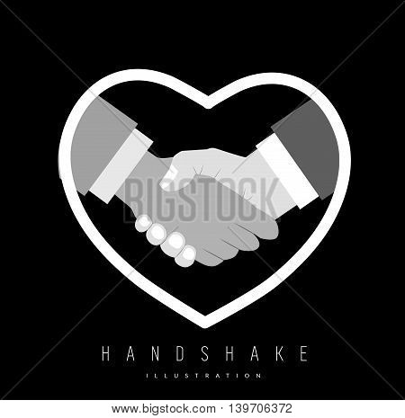 Close up of handshake for gay pride. Vector illustration
