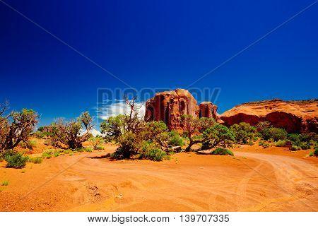 Monument Valley, Navajo Tribal Park, Arizona, Usa