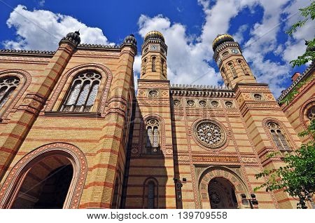 The main Synagogue of Budapest city, Hungary