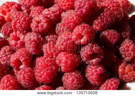 Fresh Raspberry as a background closeup photo