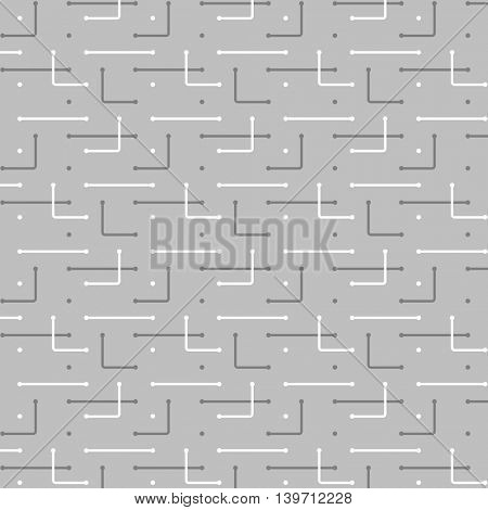 Networks, Connections - Black and White Mesh Pattern - Abstract Vector Background