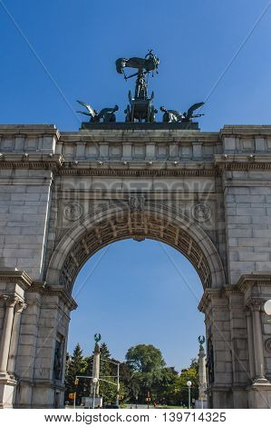 Soldiers And Sailors Arch In Brooklyn, New York City