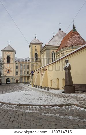 Lithuania. City Of Kaunas.  Church Of Holy Trinity And Priest Seminary (senamiestis)