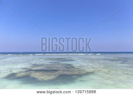A beach image on the island of Gili Trawangan Located in Bali Indonesia.