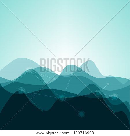 Creative Background from Waves or Mountains, Abstract Background