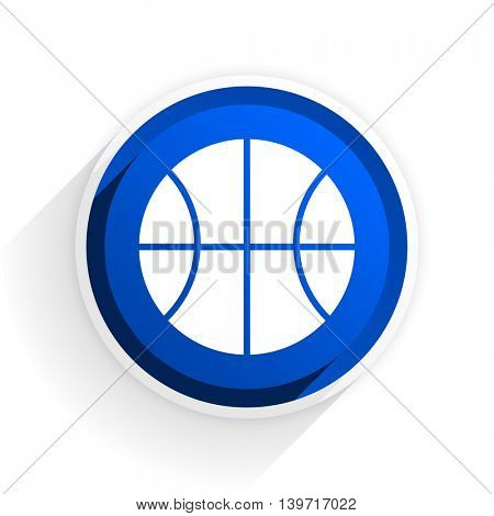 ball flat icon with shadow on white background, blue modern design web element