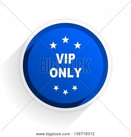 vip only flat icon with shadow on white background, blue modern design web element