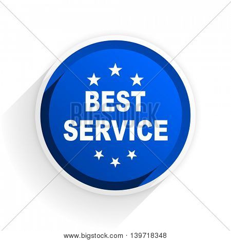 best service flat icon with shadow on white background, blue modern design web element
