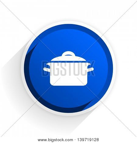 cook flat icon with shadow on white background, blue modern design web element