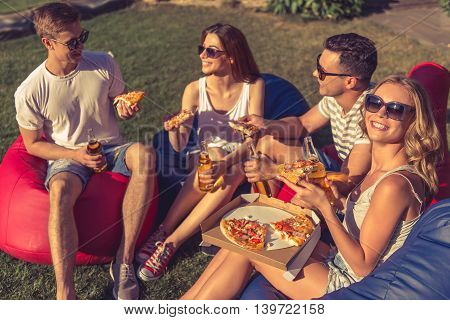 Young People Resting Outdoors
