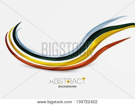 Rainbow color lines on white. Identity wave element. unievrsal presentation concept