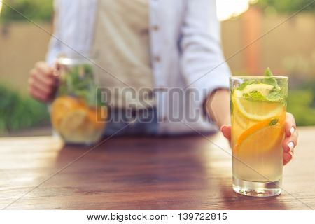 Young Girl With Lemonade