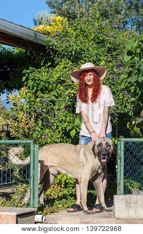 Girl And Turkish Kangal