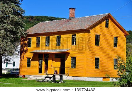 Hancock Massachusetts - September 17 2014: The Box and Furniture Shop at historic Hancock Shaker Village