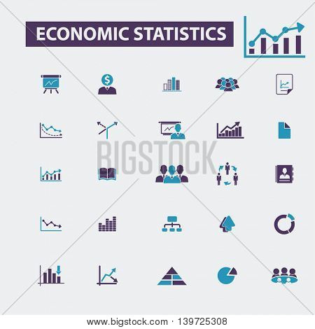 economic statistics icons