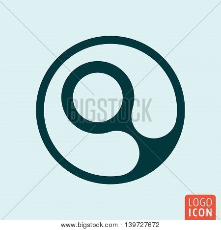 Magnifying glass icon. Search loupe symbol. Vector illustration