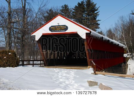 Swift River Covered Bridge Conway NH Maine USA