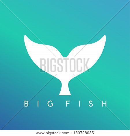 abstract vector design template of whale tail