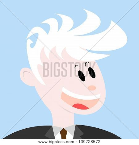 Portrait of a smiling man. Happy man face flat vector icon or avatar. Portrait of successful businessman or manager.
