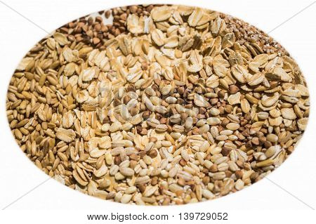 agriculture, background, breakfast, brown, buckwheat, grain, cereals