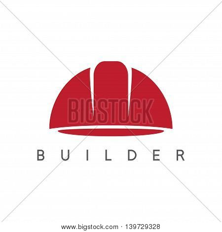 abstract icon vector design template of worker helmet