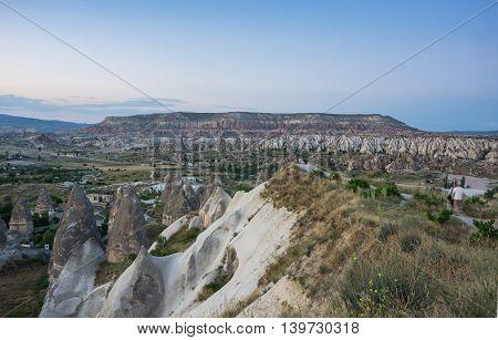 Valley near Goreme in Cappadocia Central AnatoliaTurkey
