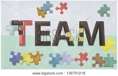 Team Teamwork Together Togetherness Unity Concept