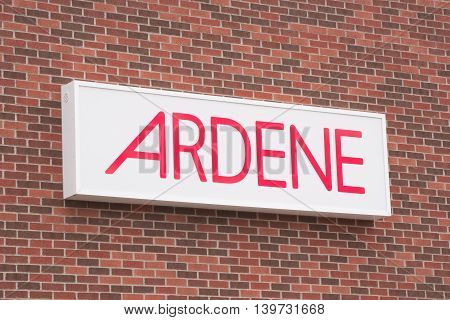DARTMOUTH CANADA - JULY 24 2016: Ardene is a clothing and accessories retail chain and has more than 400 locations across Canada.