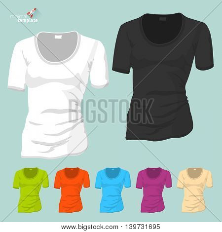 Blank T-short vector template.