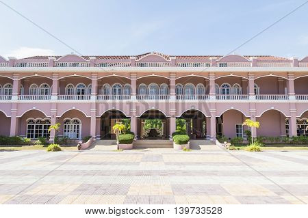 Phuket, Thailand - March 26, 2016: Phuket Mine Museum building, view from inside group of buildings