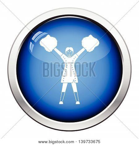 American Football Cheerleader Girl Icon