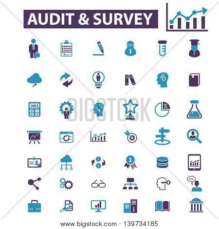 audit survey icons