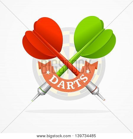 Darts Sign Isolated on White Background. Can Be Used in Business. Vector illustration