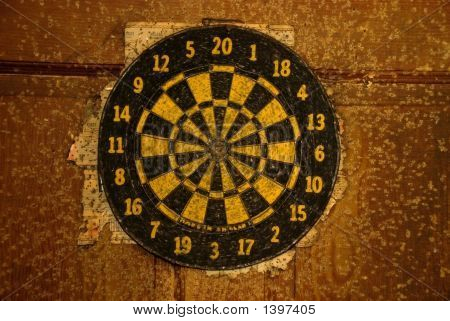 Very Used Dart Board