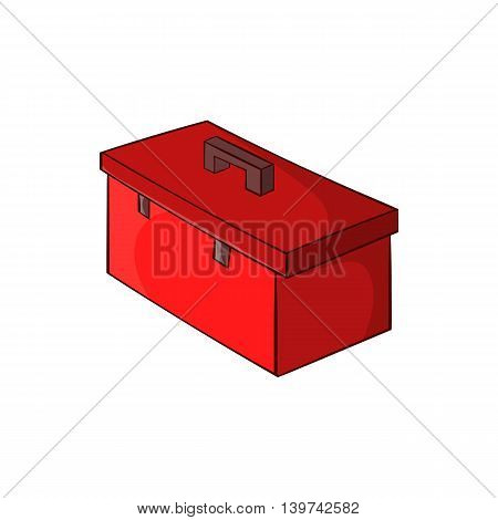 Construction suitcase icon in cartoon style isolated on white background. Repair symbol