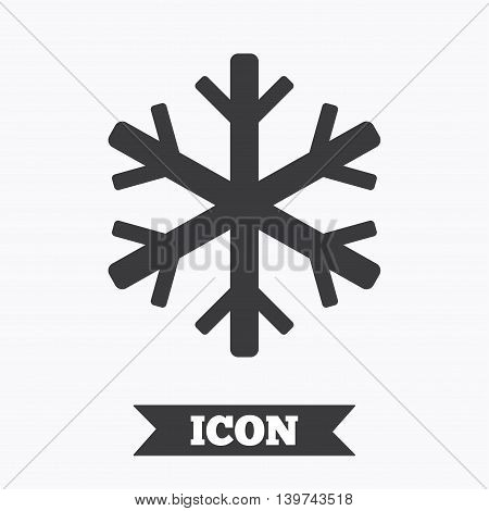 Air conditioning sign icon. Snowflake symbol. Graphic design element. Flat air conditioning symbol on white background. Vector