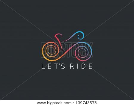 Bike logo design. Logotype of bicycle design vector background. 8 eps