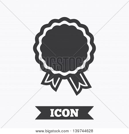 Award icon. Best guarantee symbol. Winner achievement sign. Graphic design element. Flat award symbol on white background. Vector