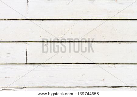 White rustic wood board wall texture background