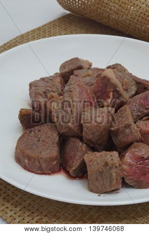 Colo steak of Japan producing name-brand beef