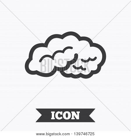 Brain sign icon. Human intelligent smart mind. Graphic design element. Flat brain symbol on white background. Vector