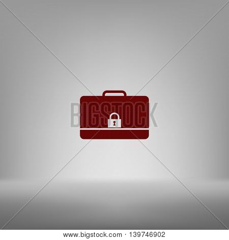 Icon Of Secured Briefcase