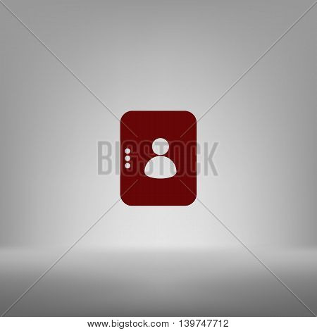 Flat Paper Cut Style Icon Of An Address Book